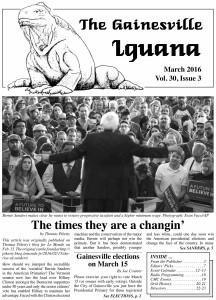 March 16 Iguana cover