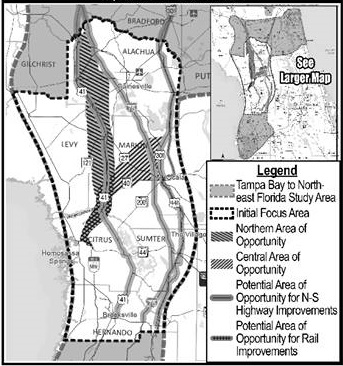 Turnpike Florida Map.A New Turnpike Through Alachua County The Gainesville Iguana